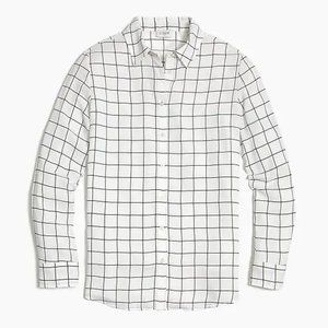 J. Crew Women's Printed button-up top Windowpane